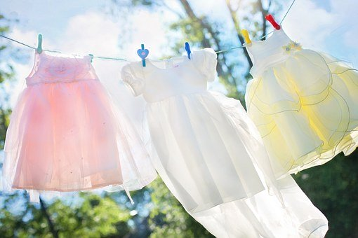 Clothesline, Little Girl Dresses