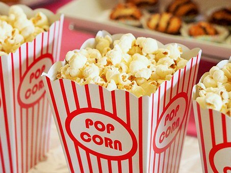 Popcorn, Movies, Cinema, Entertainment