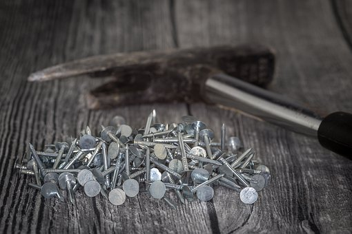 Roofers, Nails, Colorful, Zinc Plated